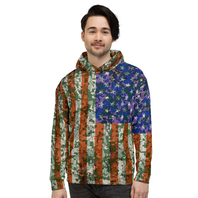 US Flag 3d printed hoodie for man