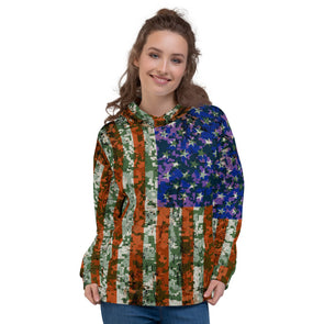 US Flag 3d printed hoodie for women