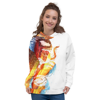 Abstract 3d hoodie for women