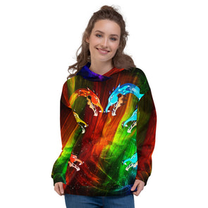 Abstract 3d hoodie for man