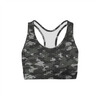 Black Hex Camo Sports Bra - Tokhore