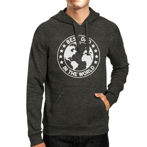 World Best Dad Dark Gray Unisex Hoodie Funny - Tokhore