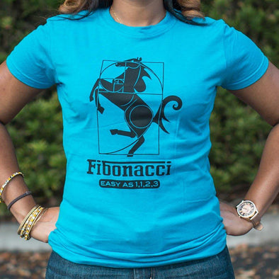 Fibonacci Easy As 1123 T-Shirt (Ladies) - Tokhore
