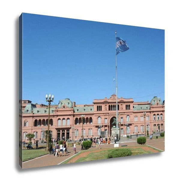 Gallery Wrapped Canvas, Casa Rosada On Plaza De Mayo At Buenos Aires - Tokhore