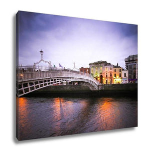 Gallery Wrapped Canvas, Hapenny Bridge Dublin - Tokhore