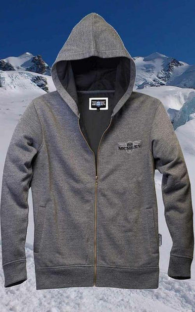 Men's Fleece zip up  Hoodie In Charcoal - Tokhore