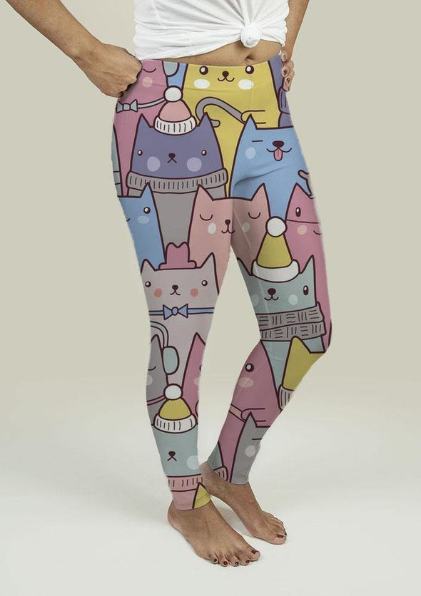 Leggings with Cats at Christmas - Tokhore