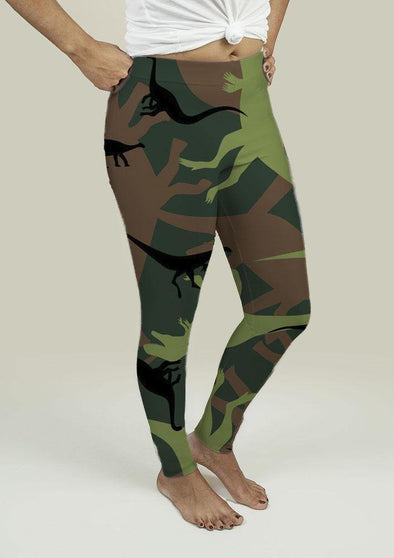 Leggings with Dinosaur Camouflage - Tokhore
