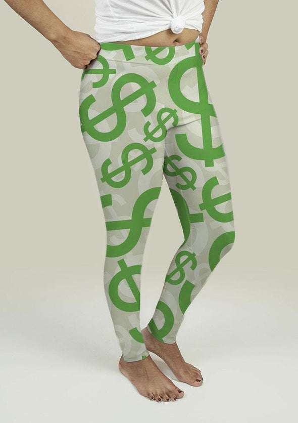 Leggings with Dollar Signs - Tokhore