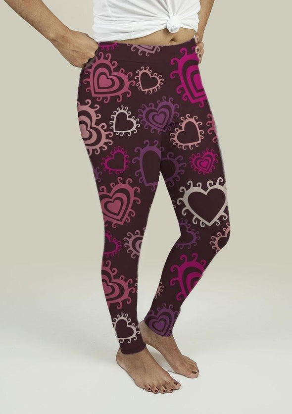 Leggings with Hearts - Tokhore