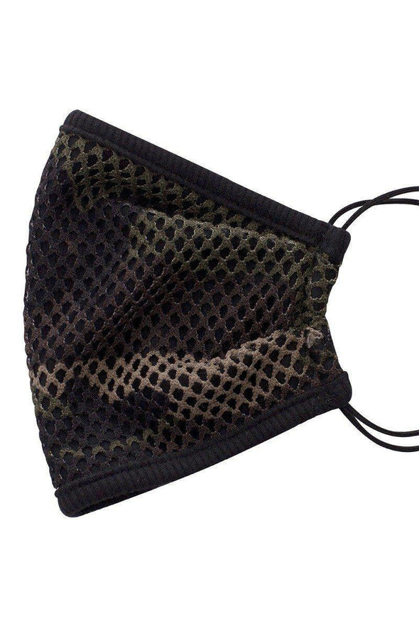 Mesh Leopard And Camouflauge Print Face Mask - Tokhore