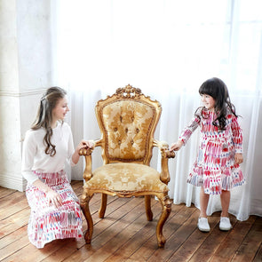 (Mommy & me) Carnival Colorful Printed Skirt/Dress - Tokhore