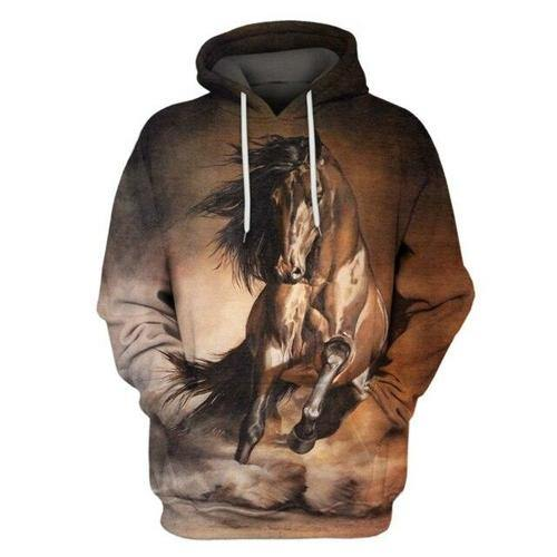 Men's 3d Hoodies Animal Full Printed Hooded Pullovers Hip Hop Male - Tokhore