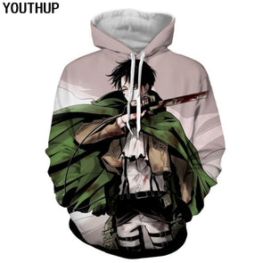 Anime Design Men's 3d Hoodies Fashion Full Printed Hooded Pullovers - Tokhore