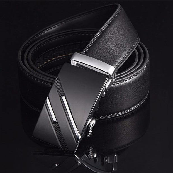 Famous Brand Belt Men Top Quality Genuine Luxury Leather Belts for Men, Strap Male Metal Automatic Buckle - Tokhore