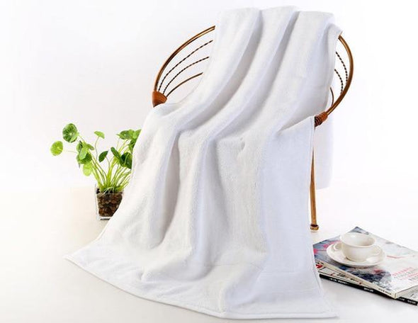 Egyptian Cotton Beach Towel Terry Bath Towels Bathroom 70*140cm 650g Thick Luxury Solid for SPA Bathroom Bath Towels for Adults - Tokhore