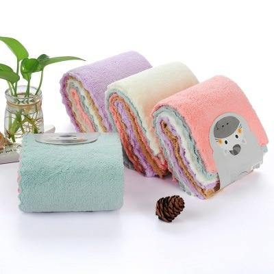 3pcs/lot Soft Microfiber Cleaning Towel Household Kitchen Absorbable Glass Kitchen Cleaning Cloth Car Dish Towel Window Clean - Tokhore
