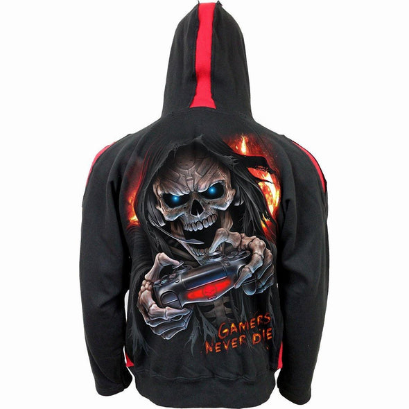 RESPAWN - Red Ripped Hoody Black - Tokhore