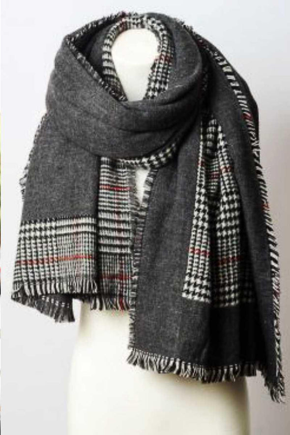 Reversible Tartan Plaid Oversized Blanket Scarf - Tokhore