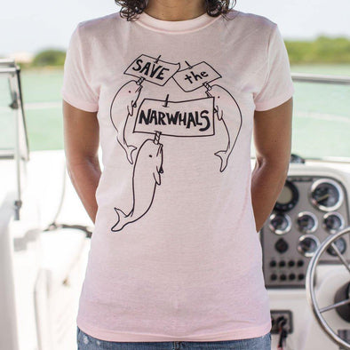 Save The Narwhals T-Shirt (Ladies) - Tokhore