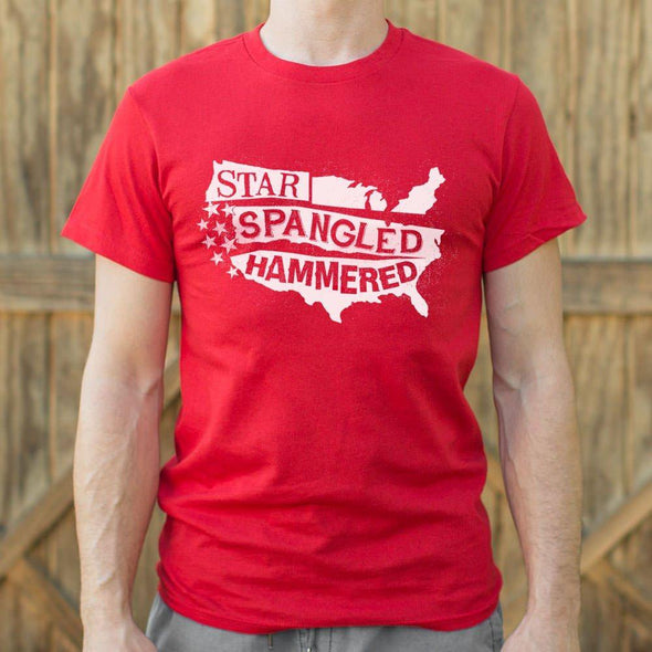 Star-Spangled Hammered T-Shirt (Mens) - Tokhore