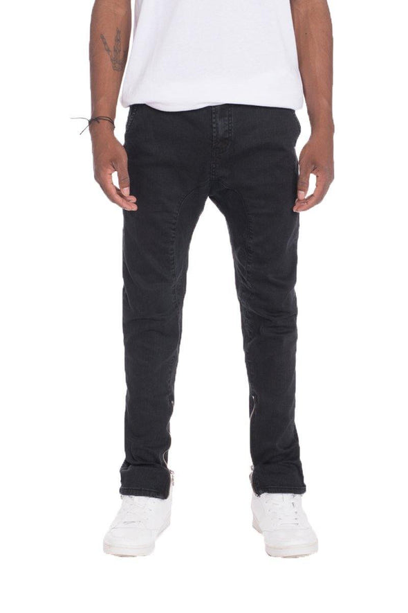 STRETCH DENIM- BLACK - Tokhore