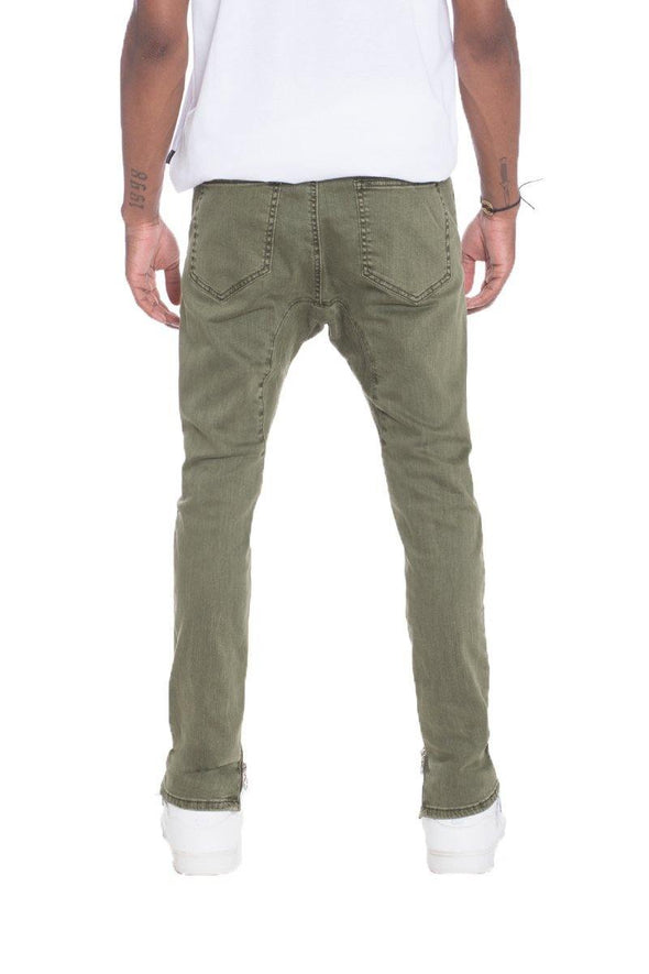 STRETCH DENIM- OLIVE - Tokhore