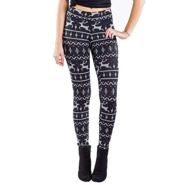 Winter Christmas Leggings for Women - Tokhore