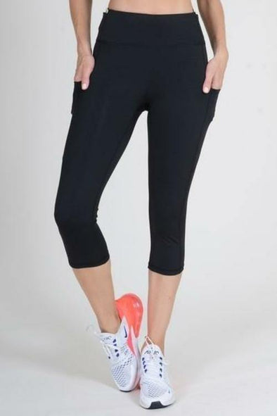 Women's High Waist Five Pocket Capri Workout Leggings (S-L) - Tokhore