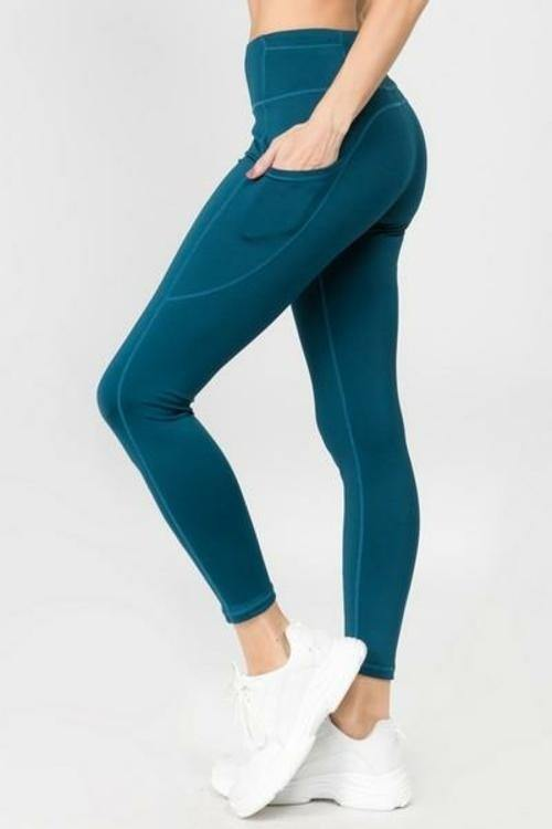 Women's High Waist Five Pocket Workout Leggings (S-L)(9 Colors) - Tokhore