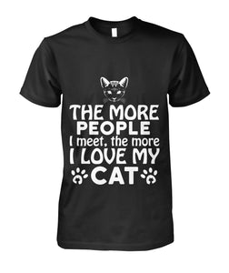 People I meet the more I love my cat Unisex Cotton Tee - APlusCat