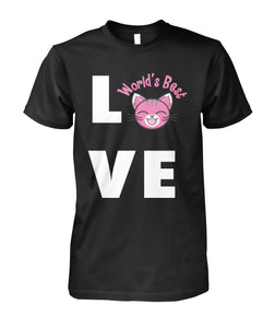 LOVE CAT Shirt Unisex Cotton Tee - APlusCat