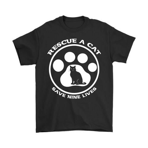 Rescue A Cat Save Nine Lives T Shirt - APlusCat