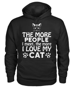 People I meet the more I love my cat Gildan Hoodie - APlusCat