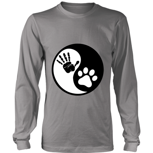 Ying Yang Human Hand & Cat Paw Long Sleeve Shirt - APlusCat