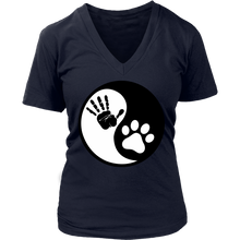 Ying Yang Human Hand and Cat Paw T-Shirt - APlusCat