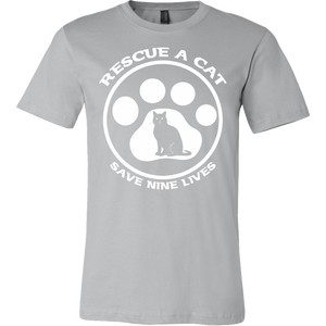 Rescue A Cat Save Nine Lives Shirt - APlusCat
