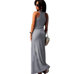 Cat Maxi Dress Casual Sleeveless