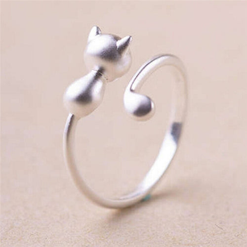 Silver Plated Cat Ring - APlusCat