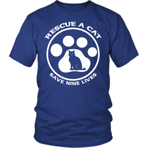 Rescue A Cat Save Nine Lives Unisex Shirt - APlusCat