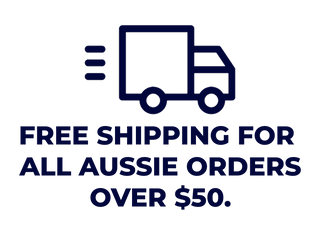 Free shipping for all Australian orders over $50