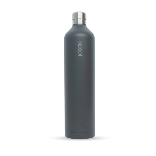 1L Stainless Steel Matte Grey Water Bottle