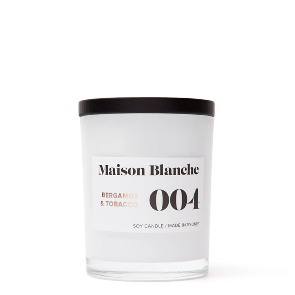Bergamot and Tobacco Eco Friendly Candle