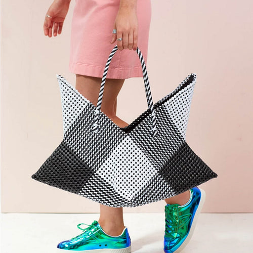 Cosmo Large Tote - Black & White