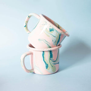 Blush Marble Enamel Mugs