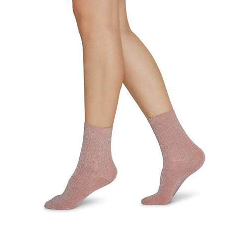 Dusty Rose Shimmer Socks