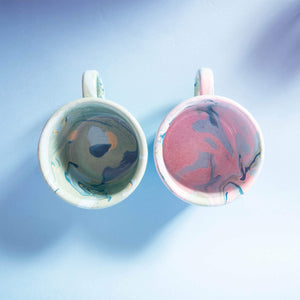 Top View Fairtrade Marble Mugs