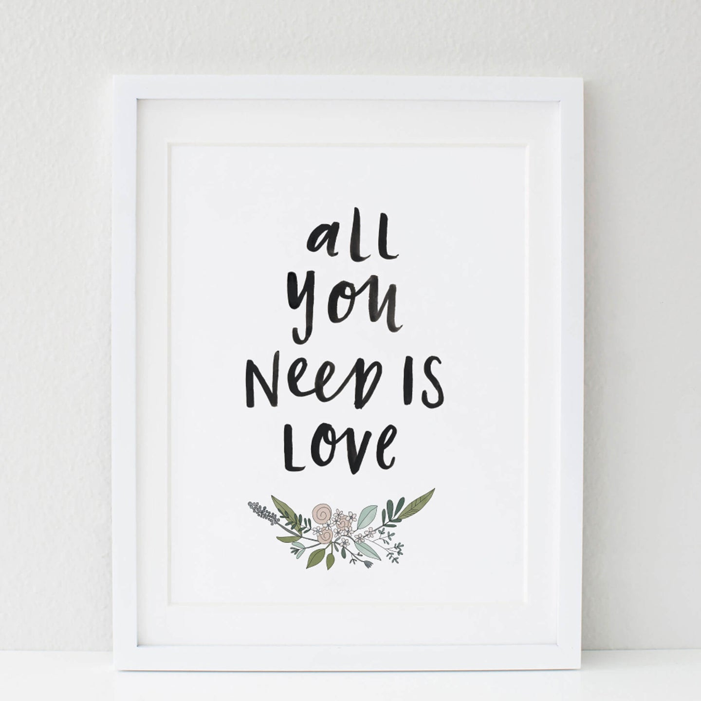 All You Need Is Love Framed Artwork