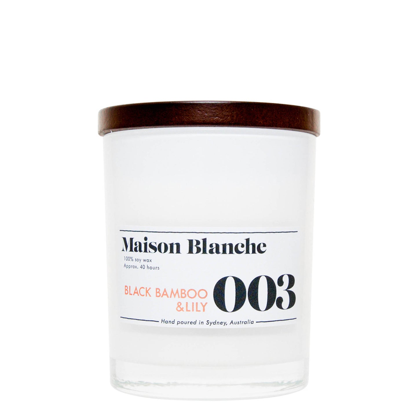 003 Black Bamboo & Lily Candle
