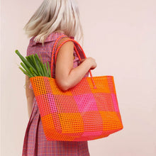 Shelly Shopper - Pink/Orange Check